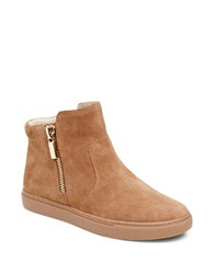 Kenneth Cole Kiera Suede Booties Brown