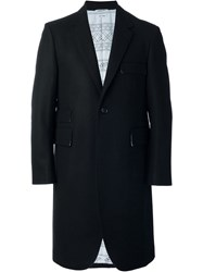 Thom Browne Single Breasted Coat Black