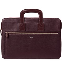 Aspinal Of London Connaught Saffiano Leather Document Case Burgundy