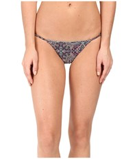 Volcom Sea La Vie Reversible Tiny Bottom Tidal Blue Women's Swimwear