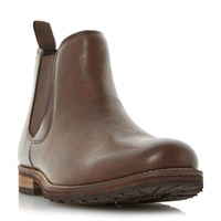 Howick Catfish Cleated Sole Chelsea Boots Brown