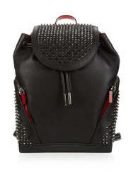 Christian Louboutin Explorafunk Studded Leather Backpack Black