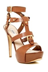 Guess Ormandi High Heel Platform Sandal Brown