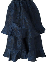 Pam Perks And Mini 'Two Tier' Skirt Blue