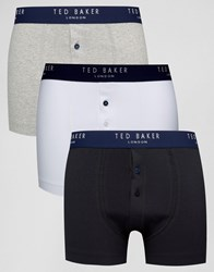 Ted Baker Trunks 3 Pack With Button Fly Multi