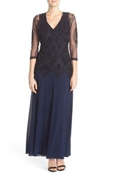 Women's Pisarro Nights Embellished Mesh A Line Gown And Jacket