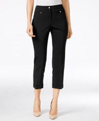 Styleandco. Style Co. Mid Rise Cropped Pants Only At Macy's Deep Black