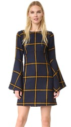 Jour Ne Long Sleeve Tartan Dress Navy