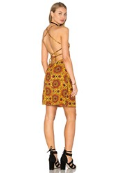 Motel Zita Dress Yellow