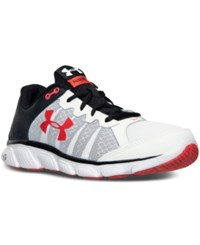 Under Armour Men's Micro G Assert 6 Running Sneakers From Finish Line White Black Rocket Red