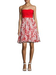 Giambattista Valli Straight Across Neckline Silk Dress Rose