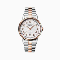 Tiffany And Co. Ct60 3 Hand 40 Mm Men's Watch In 18K Rose Gold Stainless Steel. 18K Rose Gold Stainless Steel