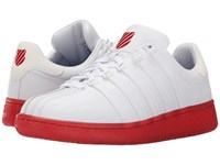 K Swiss Classic Vn Reflective White Ribbon Red Leather Men's Shoes