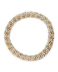Walter Steiger Sue Pearl Silver And 14K Gold Bead Bracelet