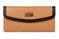 Dents Ladies Flap Over Purse With Outer Pocket Stone