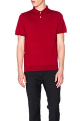 A.P.C. Knit Polo In Red
