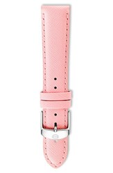 Women's Michele 18Mm Leather Watch Strap Powder Pink