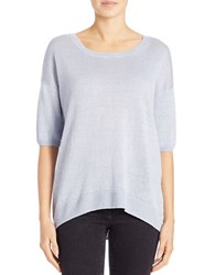Lord And Taylor Oversized Boxy Pullover Faded Blue
