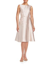 Teri Jon Solid A Line Dress Blush