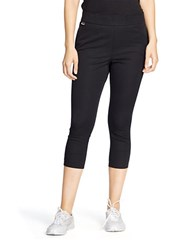 Lauren Ralph Lauren Cropped Stretch Cotton Leggings Black