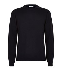 Valentino Stud Side Cashmere Sweater Male Navy
