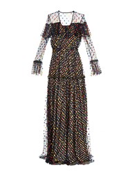 Marco De Vincenzo Polka Dot Embroidered Tulle Gown