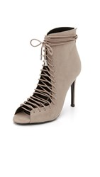 Kendall Kylie Ginny Lace Up Heels Taupe