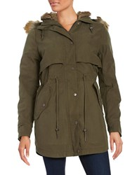 Parka London Faux Fur Lined Khaki Green