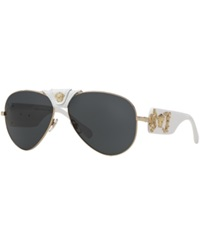 Versace Sunglasses Versace Ve2150q Gold White Grey