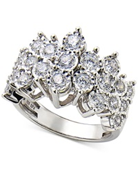 Macy's Diamond Cluster Ring In Sterling Silver 1 Ct. T.W.