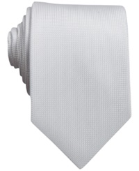Perry Ellis Oxford Solid Tie White