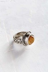 Urban Outfitters Treasure Stone Statement Ring Silver
