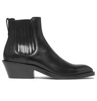 Givenchy Cuban Heel Leather Chelsea Boots Black
