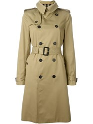 Saint Laurent Belted Trench Coat Nude And Neutrals
