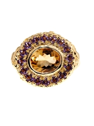 Jade Jagger Citrine And Amethyst Gold Plated Ring