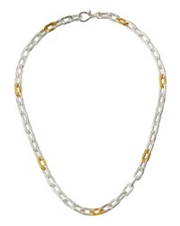 Gurhan Two Tone Oval Link Chain Necklace 18 L
