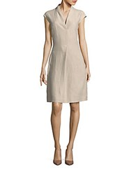 Loro Piana Abito Holli Cap Sleeve Dress Raw