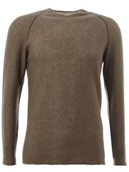 Label Under Construction Crew Neck Jumper Grey