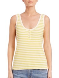 Frame Le Henley Tank Canary Yellow Stripe