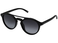 Marc Jacobs 107 S Shiny Black Dark Gray Gradient Lens Fashion Sunglasses