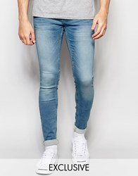 Blend Of America Blend Jeans Lunar Super Skinny Fit Vintage Light Wash Light Blue