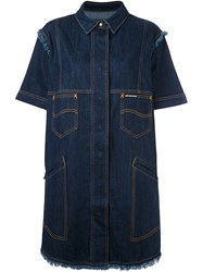 House Of Holland 'Hoh X Lee Collaboration' Shirt Dress Blue