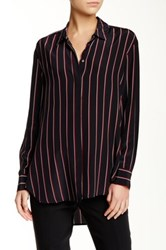 Elizabeth And James Sade Striped Silk Tunic Blue