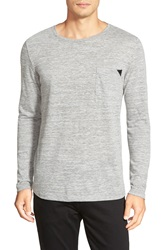 Hugo Regular Fit Long Sleeve Crewneck T Shirt Grey