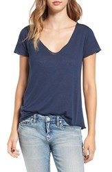 Obey Women's 'Dylan' V Neck Tee Navy