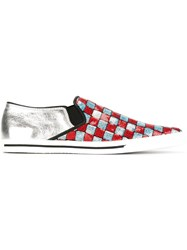 Marc Jacobs 'Delancey' Slip On Sneakers Red