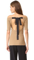 Jason Wu Knit Sweater Camel