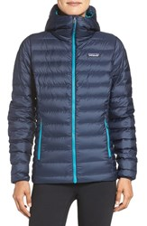 Patagonia Women's Quilted Water Resistant Down Coat Navy Blue W Epic Blue