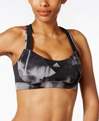 Adidas Supernova Climalite High Impact Crisscross Back Sports Bra Black