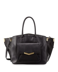 Time's Arrow Jo Tote 31 Leather Tote Bag Black